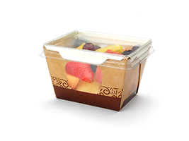 Kraft Container Clear Lid (Small)| Prism Pak