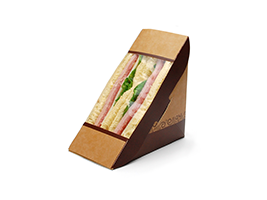 #ReadyFresh COMPOSTA Kraft Sandwich Pack with Window| Prism Pak