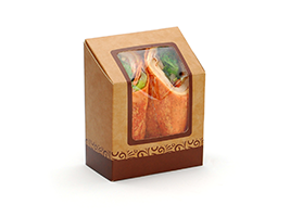 #ReadyFresh COMPOSTA Wrap Pack with Window| Prism Pak